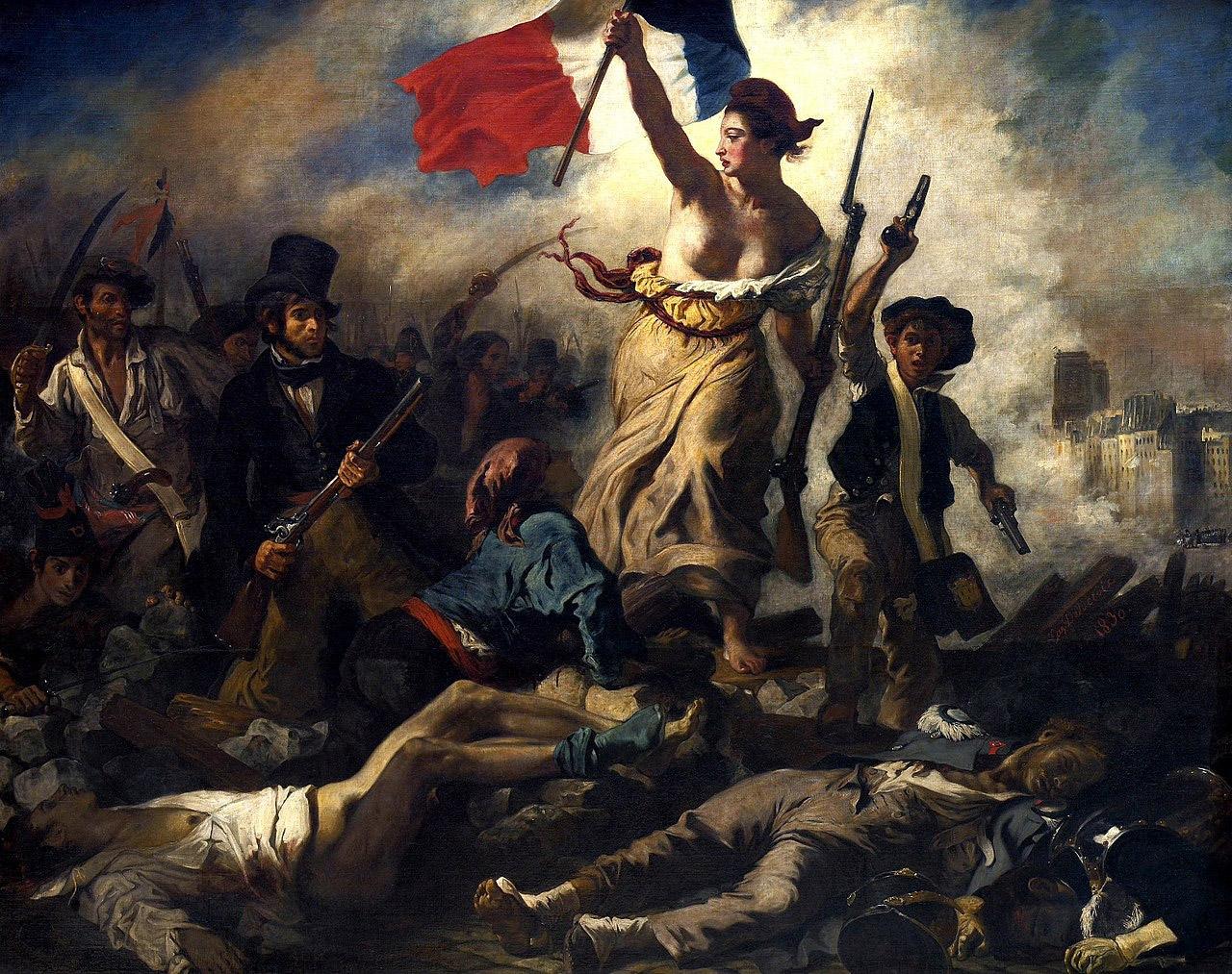 Свобода, ведущая народ. Делакруа, 1830. Холст, масло