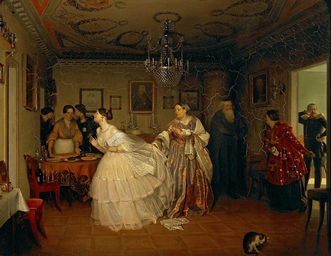 Сватовство майора. П. Федотов, 1848. Масло