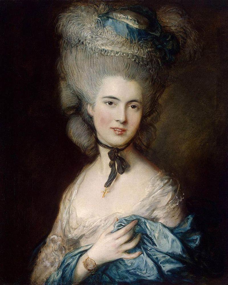 Портрет герцогини де Бофор (Дама в голубом). Т. Гейнсборо, около 1780. Холст, масло