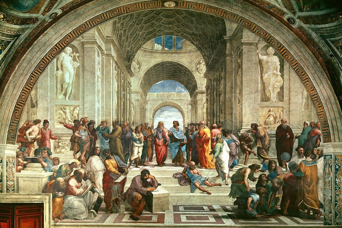 Афинская школа. Рафаэль Санти, 1511. Фреска