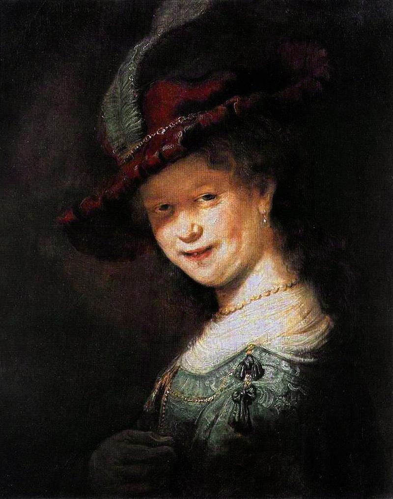 Саския ван Эйленбюрх. Рембрант, 1633. Дуб, масло