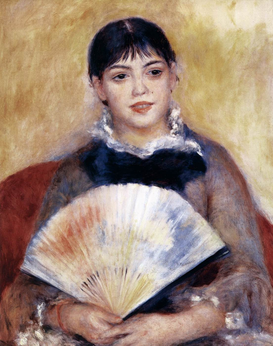 Девушка с веером. Пьер Огюст Ренуар, около 1881. Холст, масло