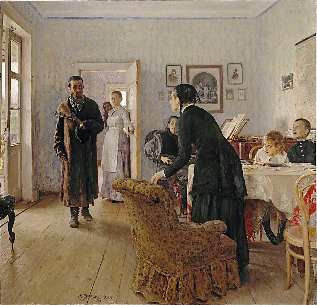 Не ждали. И. Репин, 1884—1888. Масло