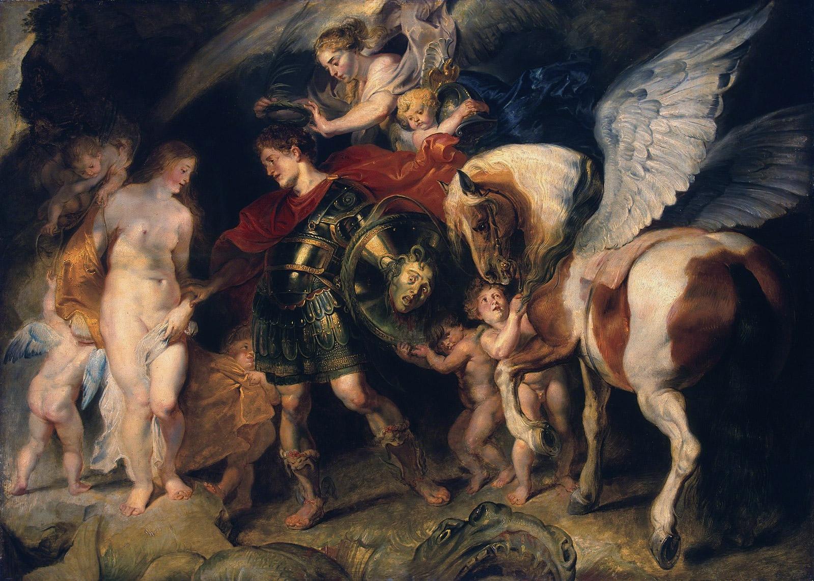 Персей и Андромеда. Рубенс, 1621. Масло