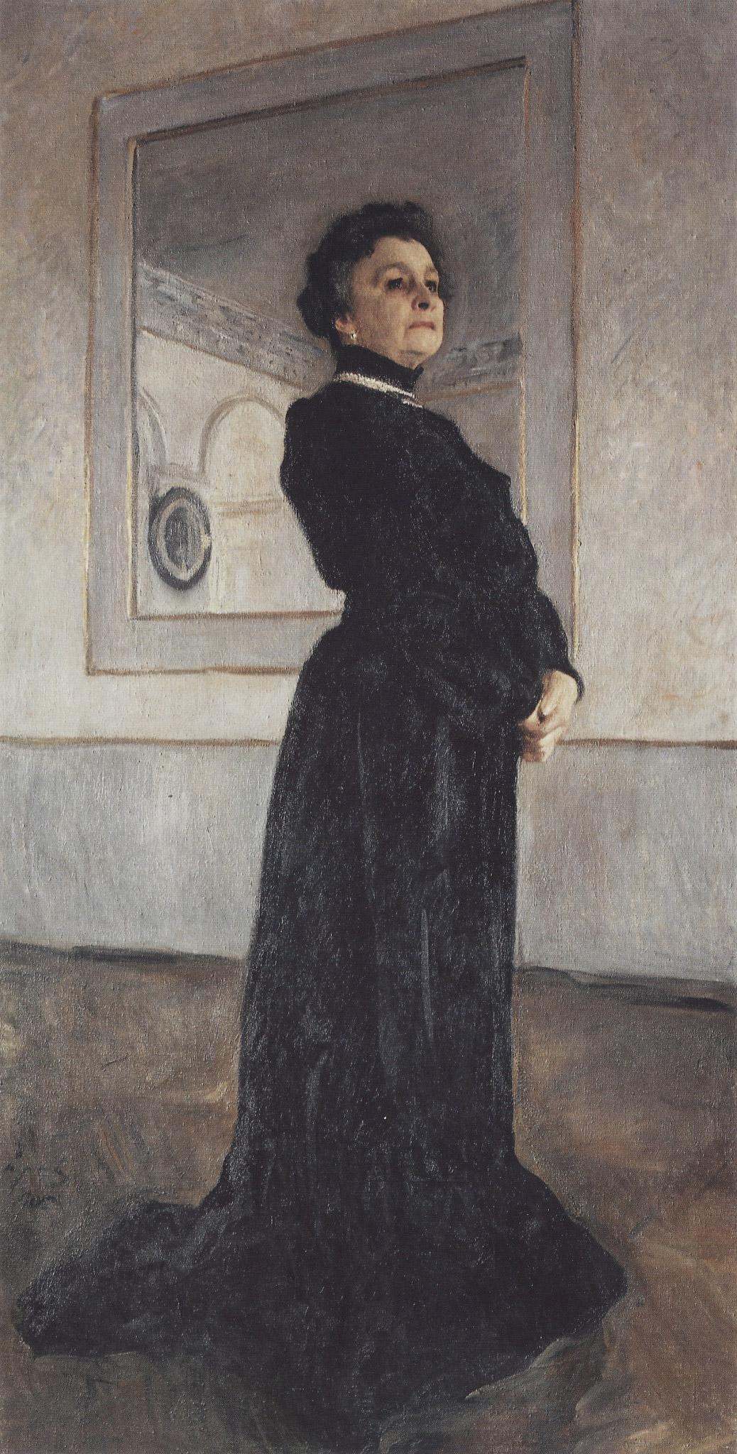 Портрет Ермоловой. В. Серов, 1905. Масло