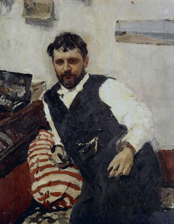 Портрет Коровина. В. Серов, 1891. Масло