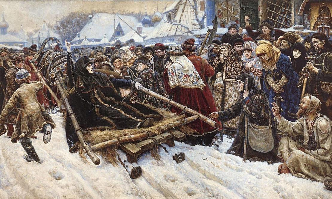 Боярыня Морозова. В. Суриков, 1884-1887. Масло