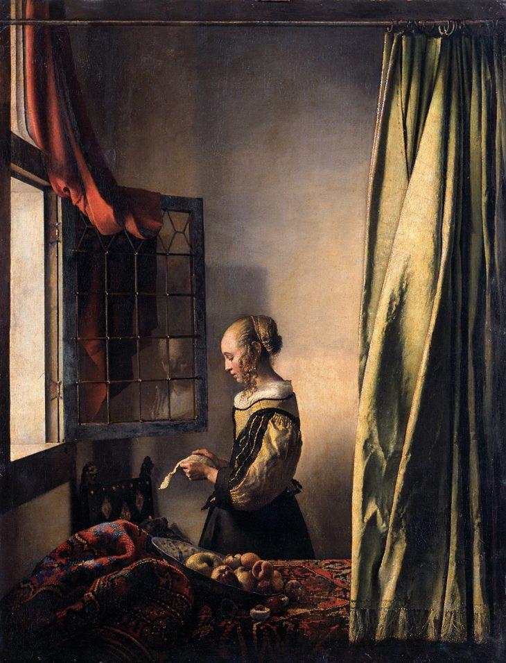 Ян Вермеер. Девушка, читающая письмо у открытого окна