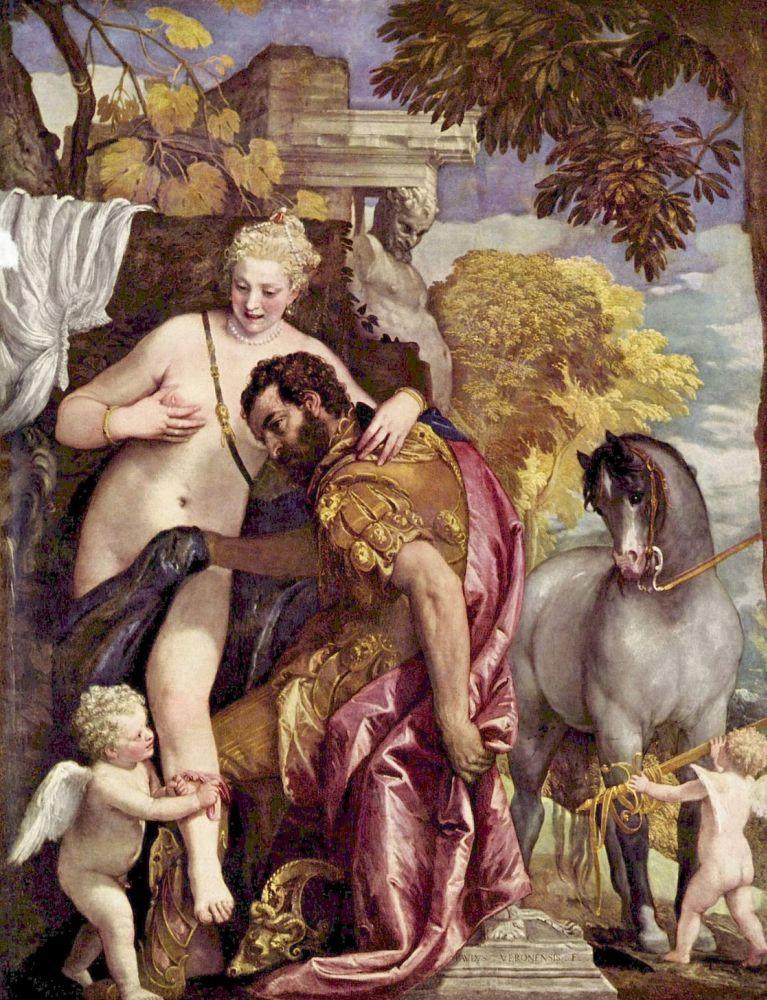 Венера и Марс, связанные Амуром. Паоло Веронезе, ок. 1570. Холст, масло