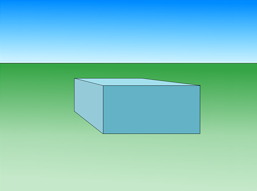 Фронтальная перспектива куба (параллелепипеда)