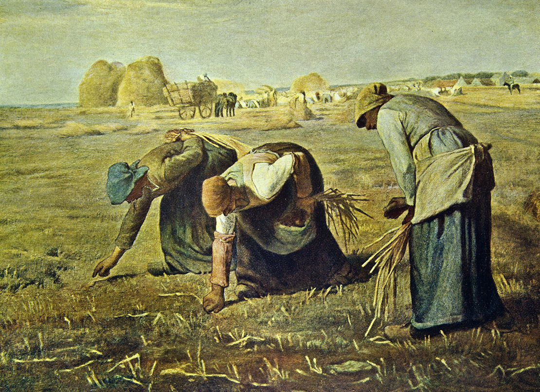 Сборщицы колосьев. Жан-Франсуа Милле, 1857, масло.
