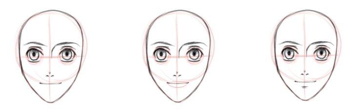 Базовая форма губ, вид спереди или в анфас