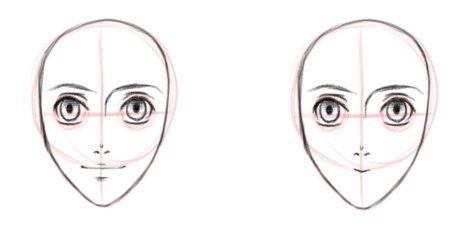 Верхняя губа и улыбка, вид спереди