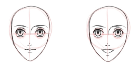 Детализируем губы, вид спереди