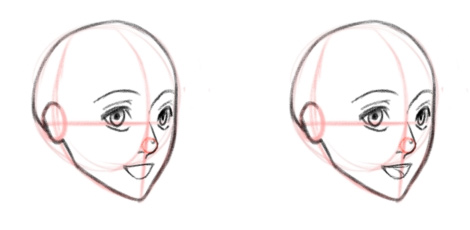 Открытый рот и улыбка, вид в три четверти