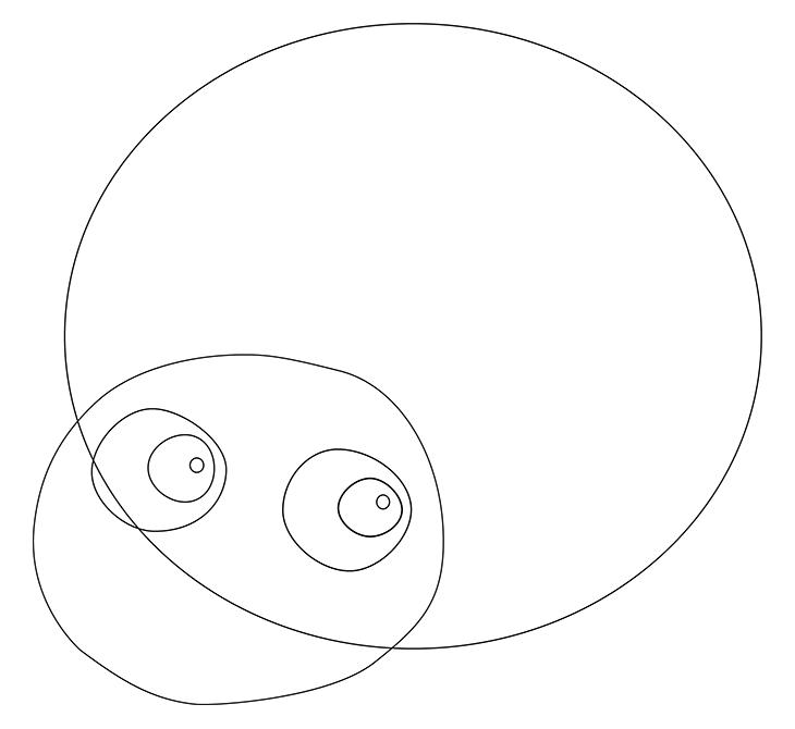 Как нарисовать божью коровку. Шаг 2. Глаза и блики