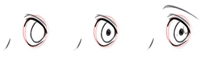 Радужка и зрачок. Вид в три четверти