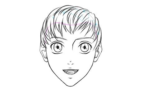 Мужская аниме-прическа