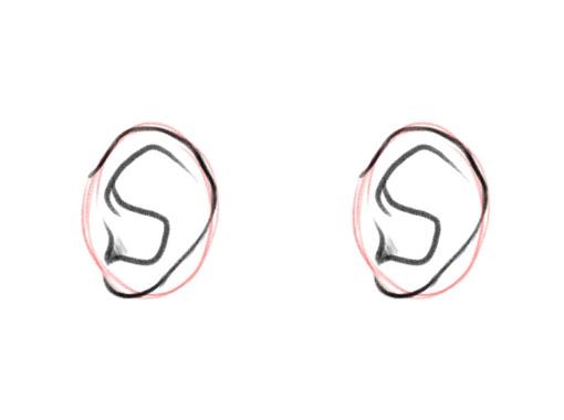 Как нарисовать уши. Аниме