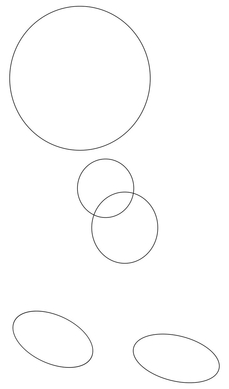 Как нарисовать Бенди. Шаг 1. Базовые круги: голова, тело и ботинки