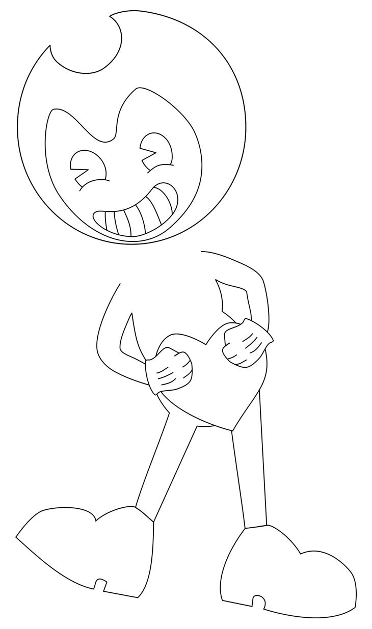Как нарисовать Бенди. Шаг 7. Руки в белых перчатках