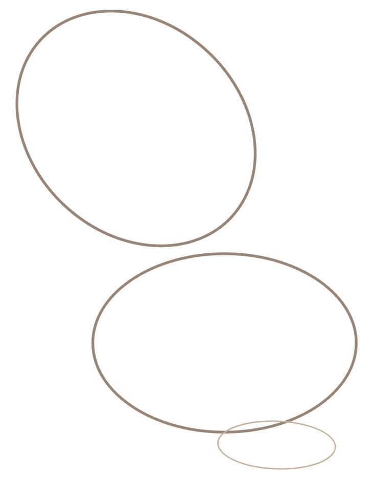 Как нарисовать кошку. Шаг 1. Основные формы