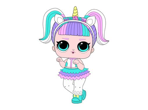 Как нарисовать куклу ЛОЛ Unicorn — Единорог