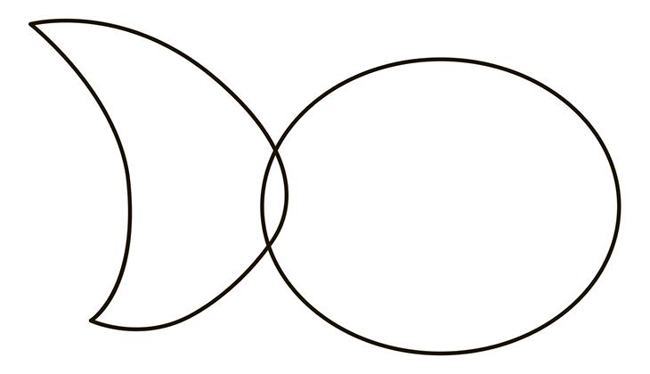 Как нарисовать рыбу. Шаг 2. Задний хвостовой плавник