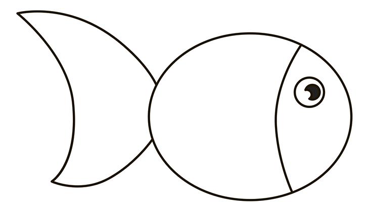 Как нарисовать рыбу. Шаг 3. Голова и глаз