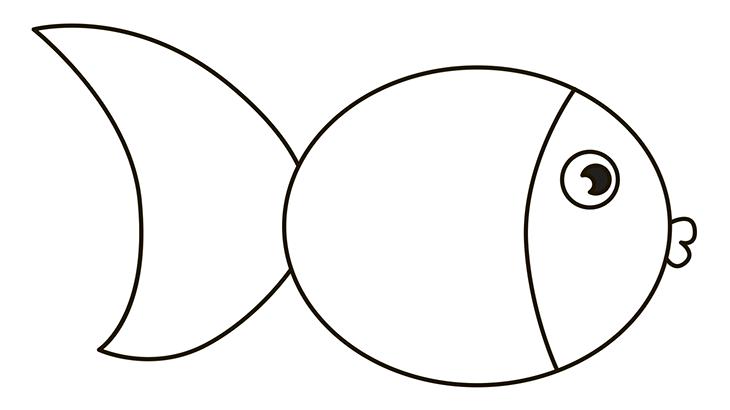 Как нарисовать рыбу. Шаг 4. Рисуем губы