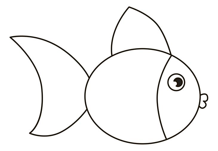 Как нарисовать рыбу. Шаг 5. Верхний боковой плавник