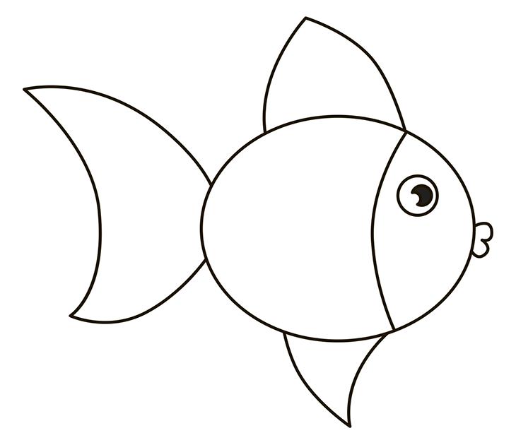 Как нарисовать рыбу. Шаг 6. Нижний боковой плавник