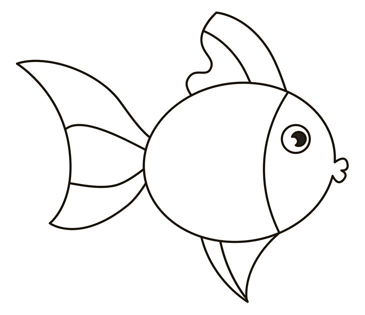 Как нарисовать рыбу. Шаг 8. Прорисовываем хвост