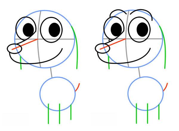 Как нарисовать милого щенка. Шаг 3. Рисуем правый глаз и надбровные дуги