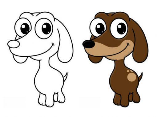 Как нарисовать милого щенка