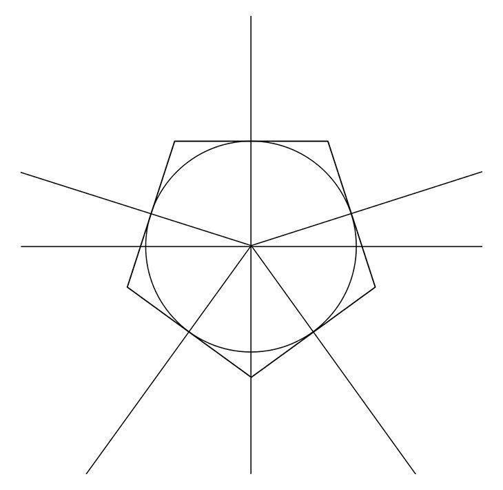 Как нарисовать звезду. Шаг 3. Рисуем оси звезды