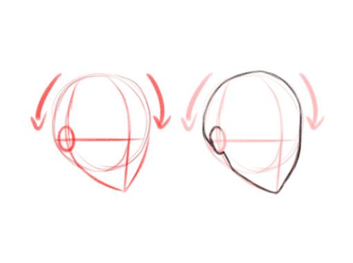 Как нарисовать голову. Аниме