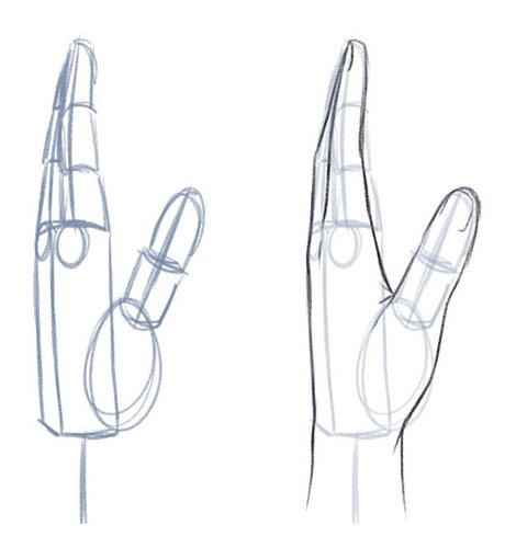 Рисуем кисть руки сбоку