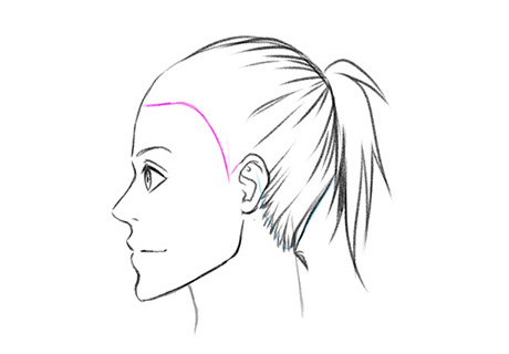 Прорисовываем детальнее линию роста волос сзади