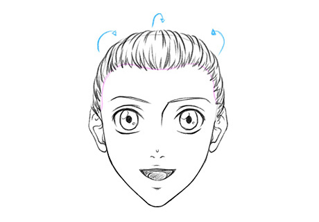 Мужская аниме-прическа хвост или коса