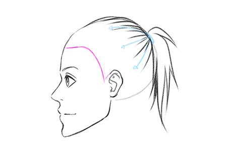 Прорисовываем детальнее отдельные волосы