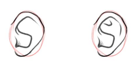 Детализируем внутренние линии уха